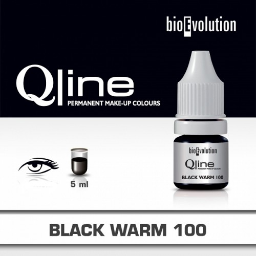 Pigment BIOEVOLUTION QLine Black Warm 100 - 5 ml