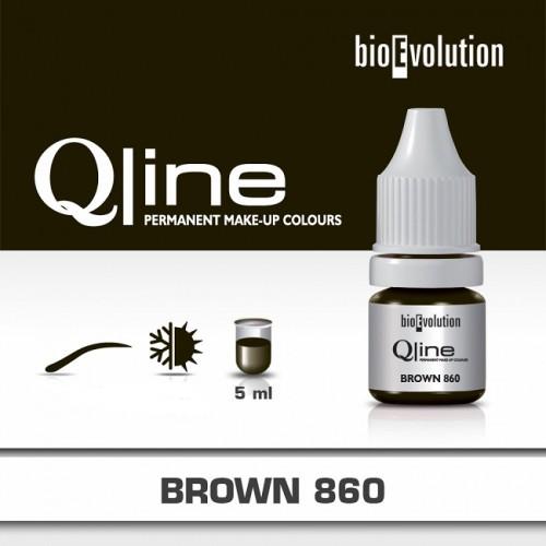 Pigment Brown BIOEVOLUTION QLine 860 - 5 ml